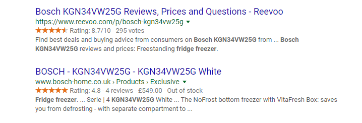 Bosch reviews and prices - review snippet example