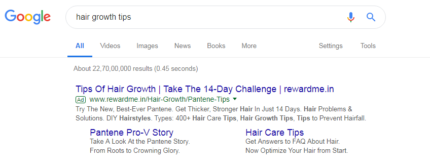hair growth tips ppc