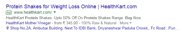 protein shakes ppc