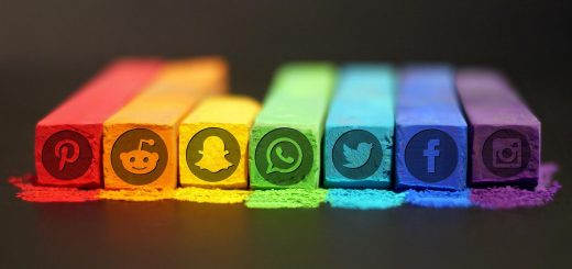 colorful social media logos