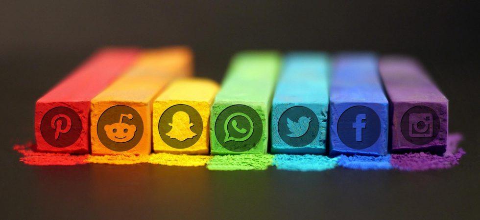colorful social media logos